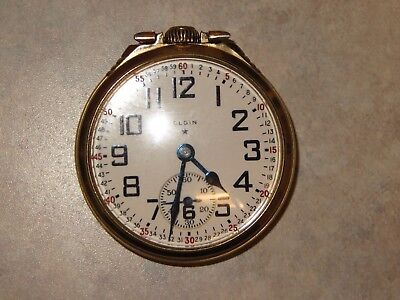 Elgin BW Raymond Railroad grade watch 23 Jewel 16s LS 5 position  c1934