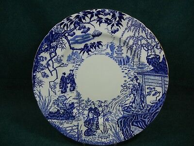 Royal Crown Derby Scalloped Edge Blue Mikado Pattern Dinner Plate(s)