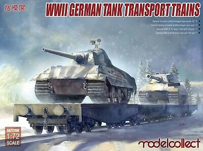 MODELCOLLECT UA72158 WWII German Train Transport (4 Waggons & 2 Tanks) in 1:72