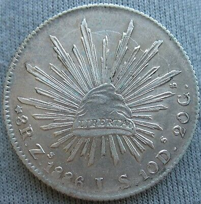 1886 Zs JS Mexico 8 Reales