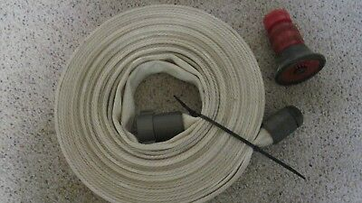 New Unused 50' Forestry National Fire Hose & Nozzle Test To 250  Psi Nfpa  Nr