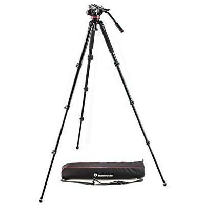 Manfrotto MVK502AQ Fluid Video System Set (Max. Load 7 kg) with MVH502AH/MVT535A