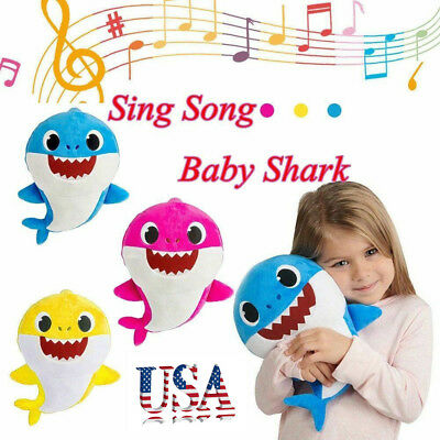 2019 Baby Shark Plush Singing Plush Toys Music Doll English Song Toy Gift USA