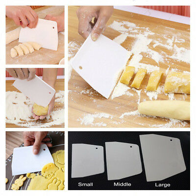 2 Pcs Sugarcarft Scrapers Cake Decorating Fondant Icing Smoother Mould Frosting
