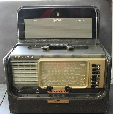 Vintage Zenith Trans Oceanic A600 Wave Magnet Tube Radio