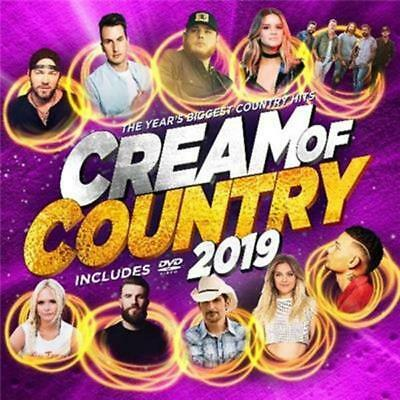 CREAM OF COUNTRY 2019 - Various Artists CD & DVD *NEW* 2019