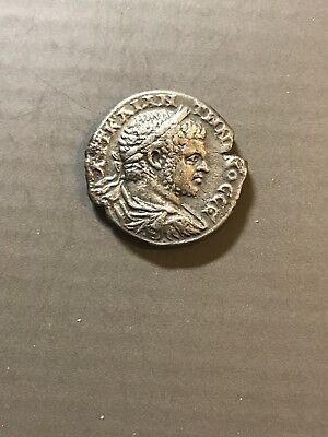 Ancient Silver Caracalla Of Tyre Phoenicia 12,30gm 26mm In Mint Condition