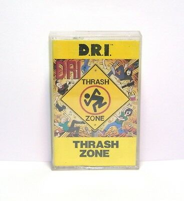 D.R.I. Thrash Zone Cassette  1989 Metal Dirty Rotten Imbeciles Play Tested
