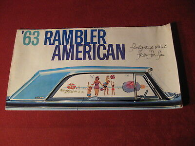 1963 AMC Nash Rambler Original Factory Showroom Sales Brochure Old Catalog Book