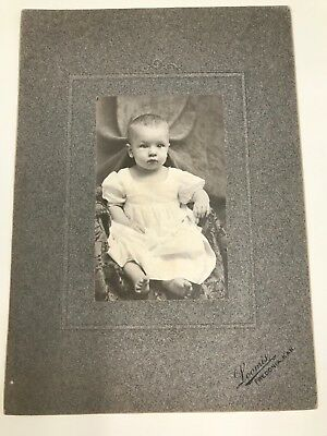 Antique Photo Baby Everett 7 months old Loomis Fredonia Kansas