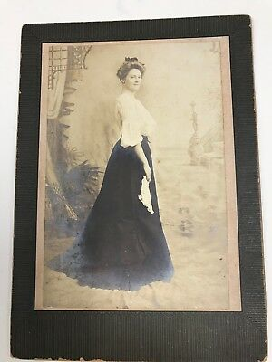 Antique Photo Victorian Woman Lizzie Morgan