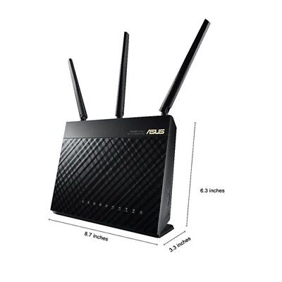 ASUS RT-AC68U AC1900 Wireless Dual Band Gigabit Router Up to 1.9Gbps F46