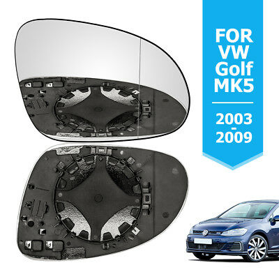 Wing Mirror Glass Heated Fits VW Golf 5 MK5 Right Drivers Side New 2003-2008