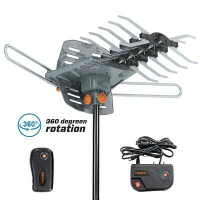 200Mile 1080P Outdoor Amplified HDTV Antenna Digital Signal UHF VHF 360°Rotation