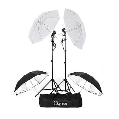 "Kshioe 4pcs 33"" Reflector Photography Studio Umbrellas Continuous Lighting Kit"