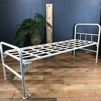 Vintage Metal Single bed Frame Antique Medical Hospital Prison