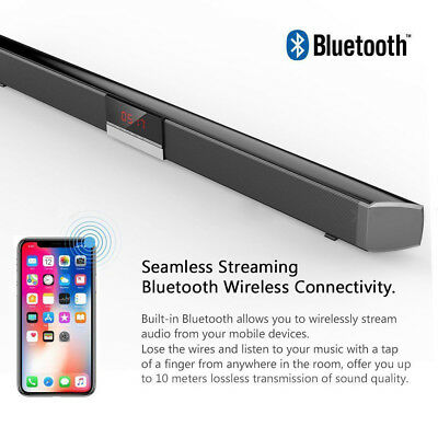 Powerful TV Sound Bar 40W Home Theater Soundbar System Subwoofer Coaxial Optical