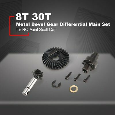 8T 30T Metal Bevel Gear Differential Main Gear Set For RC Axial ScxII Car QK