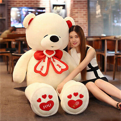 180cm Giant Huge Big Lovely Teddy Bear Plush Soft Stuffed Animal Doll Kids Gift