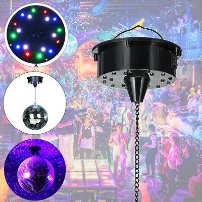 RGB LED Light Rotating Disco Mirror Ball Motor Stage KTV Party Sound Activated