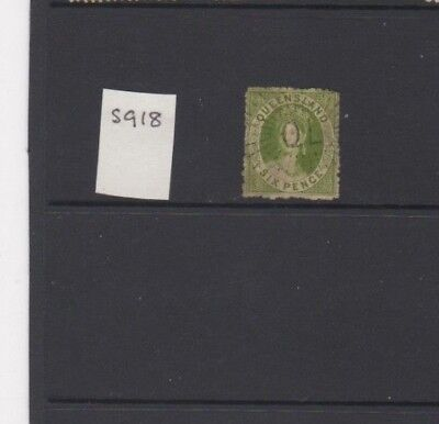 A Very nice old Queensland 6d green issue