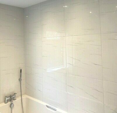 Luxor White Polished Rectified Porcelain Wall /& Floor Tiles 60 X 60 cm