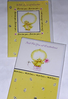 EASTER CARDS X 12, JUST 25p, 2 DESIGNS, WRAPPED, FOILED, EC29