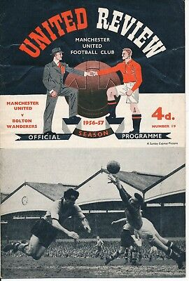 Manchester United v Bolton (Opening of Floodlights) 1956/7 - TOKEN INTACT!