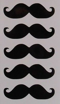 Moustache Stickers 10 20 40 80 Ideal for Baubles, Sweet Cones, Glasses, Crafts