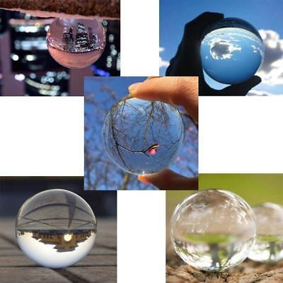 K9 50/80mm Clear Crystal Paper Photography Lens Ball Photo Prop Decor & Holder