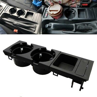 Center Console Cup Holder Coin storage tray for BMW E46 323 325 328 330 Black