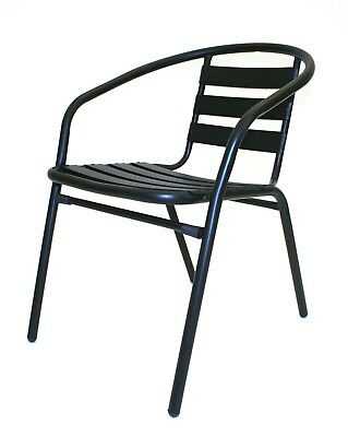 SC-027 Black Steel Garden Chairs, Patio Chairs ideal for gardens & business