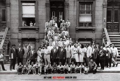 Jazz Portrait  A Great Day in Harlem by Art Kane Art Print New York 1958 Poster