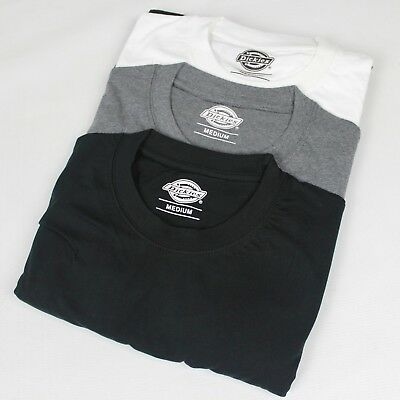 21269aa04a4d DICKIES MEN'S MC Cotton T-shirt 3 Pack Black Dark Grey Melange White ...