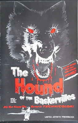 THE HOUND OF THE BASKERVILLES  pressbook US 1959 Peter CUSHING