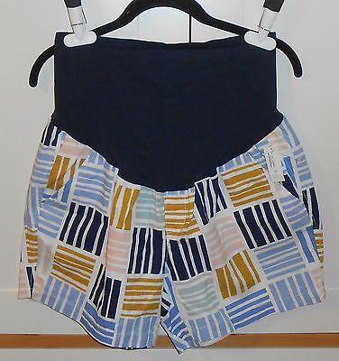 Women's Old Navy Multi-Color Maternity Smooth-Panel Twill Shorts - Size 12