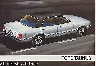 FORD - Taunus brochure/prospekt/folder Dutch 1978