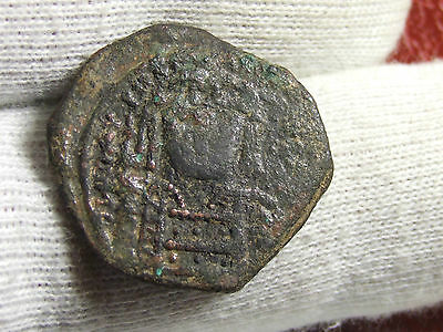 BYZANTINE EMPIRE Æ Half Follis coin to identify