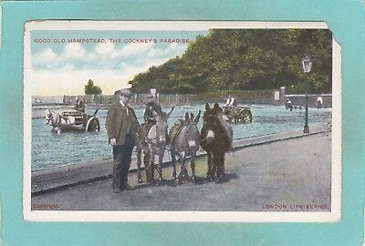 Small Old Postcard of Good Old Hampstead,The Cockney`s Paradise,E8.