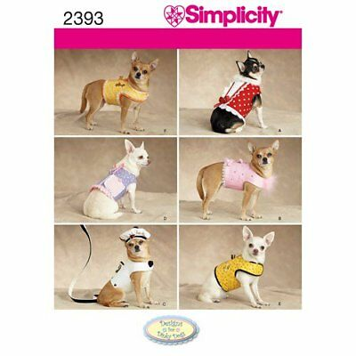 New Simplicity Dogs Coat Sewing Pattern In 3 Sizes Eur 912