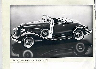 Lot of 2 Mounted photograph of vintage Packard Car from a Exhibition Both 1932