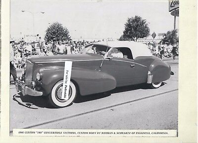 Lot of 2 Mounted photograph of vintage Packard Car from an Exhibition 1941, 1947