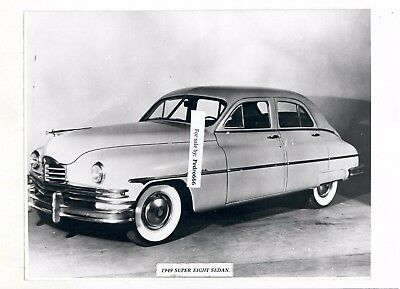 Mounted photograph of vintage Packard Car from an Exhibition Super 8 Sedan 1949