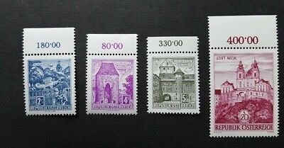 Austria MNH with tabs #622A, 627, 627A, 695-6, 688-9, 691 and 702 (1967)