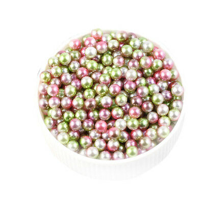 4/5/6mm Multicolor Round ABS Imitation Pearl Beads Decoration without Hole Craft