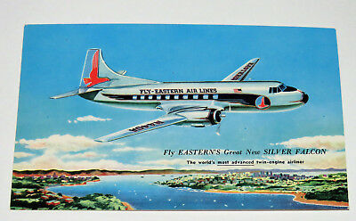 Fly Easter Air Lines Great New Silver Falcon Postcard Vintage
