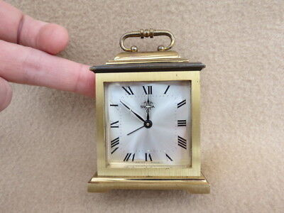 Small Vintage Swiza 8 Brass Alarm Clock