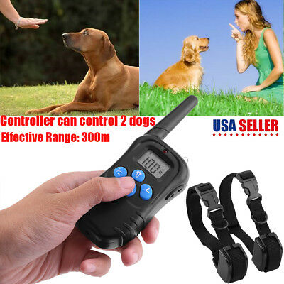 Pettrainer 330Yard Electric Remote Dog Training Collar Rechargeable Shock Collar