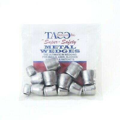 15 pack round metal axe and hammer wedges