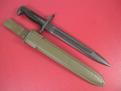 post-WWII US Army M1 Bayonet w/M7 Scabbard - Greek Version for M1 Garand Rifle